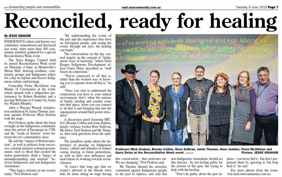 Wayapa @ Yarra Ranges Reconciliation Event